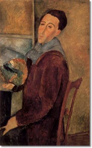 Modigliani autorretrato 1919